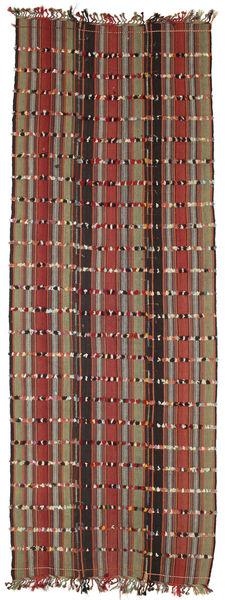 Kilim Konya Cicim Rug 161X433 Authentic  Oriental Handwoven Hallway Runner  Dark Brown/Dark Red (Wool, Turkey)