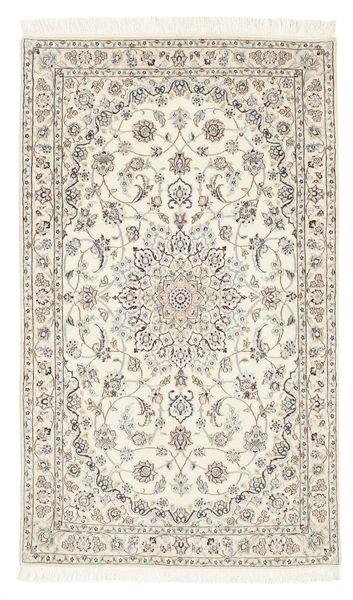 Nain 6La Rug 98X165 Authentic  Oriental Handknotted Beige/Light Grey (Wool/Silk, Persia/Iran)