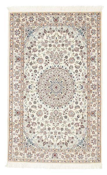 Nain 6La Rug 100X160 Authentic  Oriental Handknotted Beige/Light Grey (Wool/Silk, Persia/Iran)