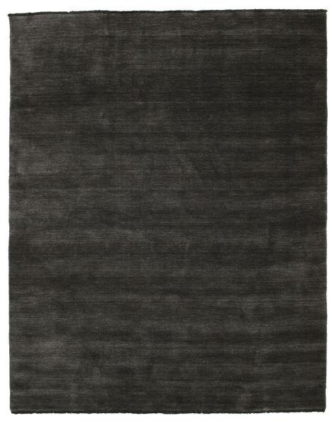 Handloom Fringes - Black/Grey Rug 200X250 Modern Dark Grey/Black (Wool, India)