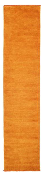 Handloom Fringes - Orange Rug 80X350 Modern Hallway Runner  Orange/Yellow (Wool, India)