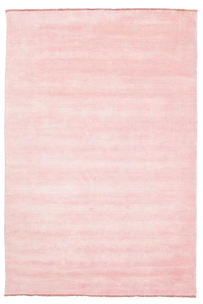 Handloom Fringes - Pink Rug 200X300 Modern Light Pink (Wool, India)