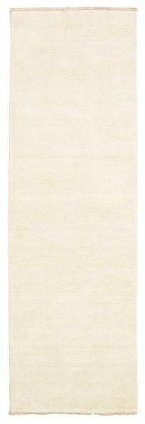 Handloom Fringes - Light Rug 80X250 Modern Hallway Runner  Beige (Wool, India)