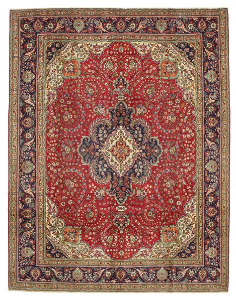 Tabriz Patina Rug 300X384 Authentic  Oriental Handknotted Dark Brown/Rust Red Large (Wool, Persia/Iran)