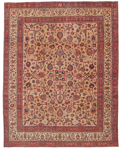 Mashad Patina Signed: Amoghli Rug 287X370 Authentic  Oriental Handknotted Rust Red/Dark Red Large (Wool, Persia/Iran)