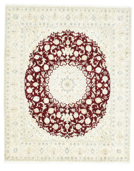 Nain 9La Rug 250X308 Authentic  Oriental Handknotted White/Creme/Beige Large (Wool/Silk, Persia/Iran)