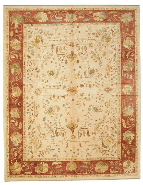 Oushak Rug 315X401 Authentic  Oriental Handknotted Dark Beige/Beige/Light Brown Large (Wool, Turkey)