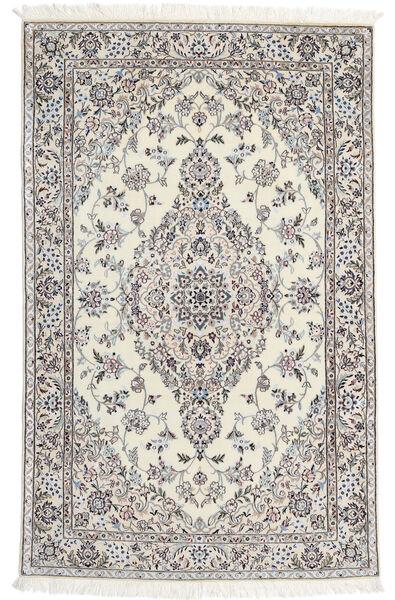 Nain 6La Rug 110X176 Authentic  Oriental Handknotted Beige/Light Grey (Wool/Silk, Persia/Iran)