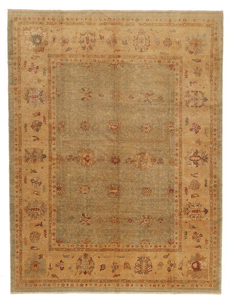 Oushak Rug 323X424 Authentic  Oriental Handknotted Light Brown/Dark Beige Large (Wool, Turkey)