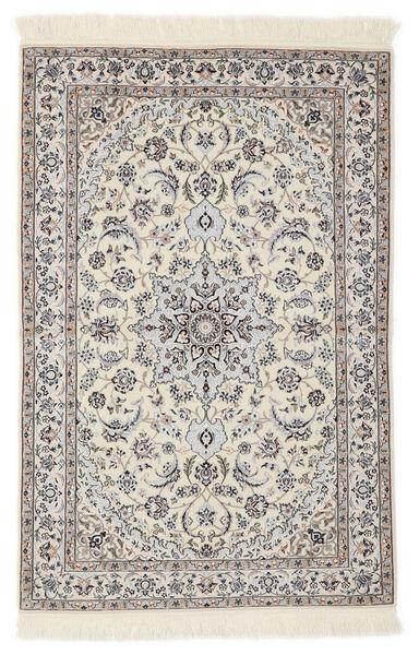 Nain 6La Rug 103X153 Authentic  Oriental Handknotted Light Grey/Beige/White/Creme (Wool/Silk, Persia/Iran)