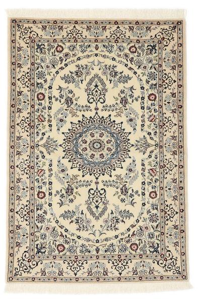 Nain 6La Rug 100X147 Authentic  Oriental Handknotted Beige/Light Grey (Wool/Silk, Persia/Iran)