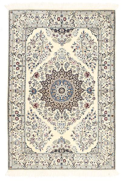Nain 6La Rug 100X150 Authentic  Oriental Handknotted Beige/Light Grey (Wool/Silk, Persia/Iran)