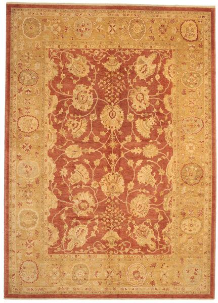 Oushak Rug 304X423 Authentic  Oriental Handknotted Light Brown/Dark Beige Large (Wool, Turkey)