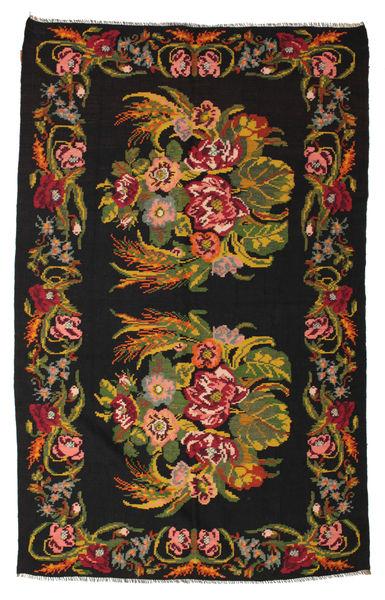 Rose Kelim Moldavia Rug 184X295 Authentic  Oriental Handwoven Black/Dark Red (Wool, Moldova)