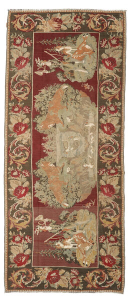 Rose Kelim Moldavia Rug 163X373 Authentic  Oriental Handwoven Hallway Runner  Rust Red/Brown (Wool, Moldova)