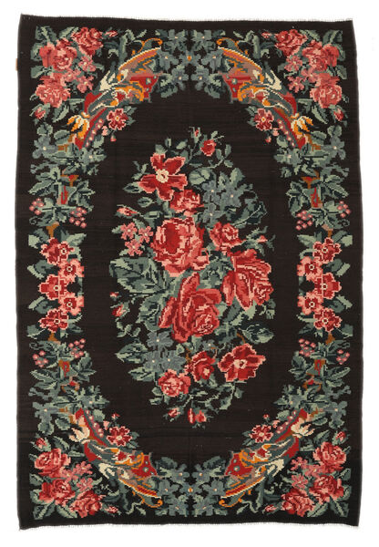 Rose Kelim Moldavia Rug 176X256 Authentic  Oriental Handwoven Dark Brown/Dark Grey (Wool, Moldova)
