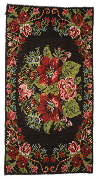 Rose Kelim Moldavia Rug 176X329 Authentic  Oriental Handwoven Dark Brown (Wool, Moldova)