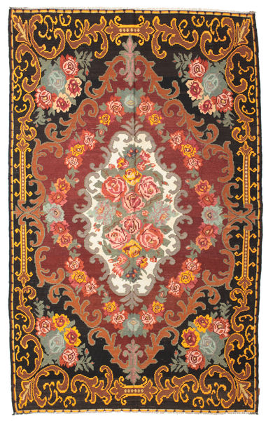 Rose Kelim Moldavia Rug 219X351 Authentic  Oriental Handwoven Dark Brown/Brown (Wool, Moldova)
