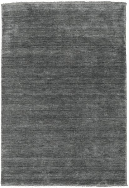 Handloom Fringes - Dark Grey Rug 160X230 Modern Dark Grey (Wool, India)
