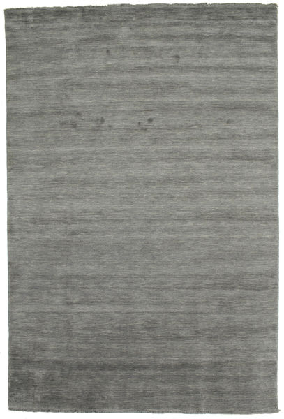 Handloom Fringes - Dark Grey Rug 200X300 Modern Dark Grey (Wool, India)