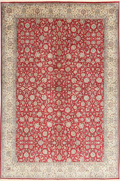 Kashmir Pure Silk Rug 186X277 Authentic  Oriental Handknotted Light Grey/Dark Red (Silk, India)