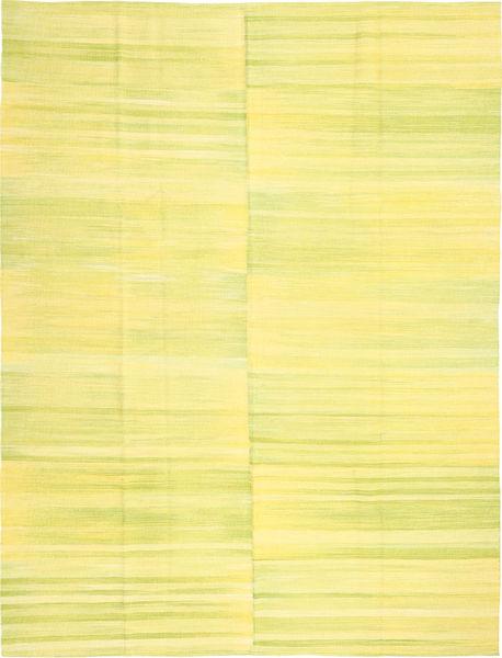 Kilim Modern Rug 216X286 Authentic  Modern Handwoven Yellow (Wool, Afghanistan)