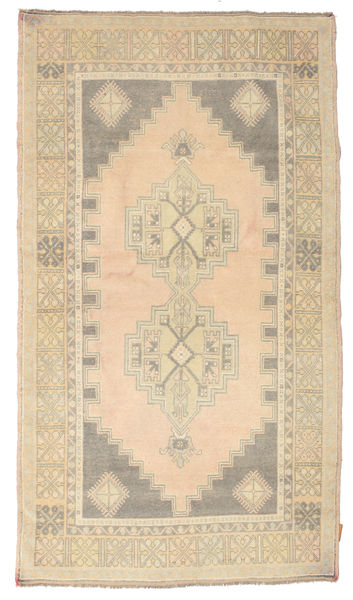 Colored Vintage Rug 114X205 Authentic  Modern Handknotted Yellow/Beige (Wool, Turkey)