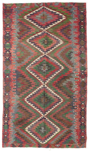 Kilim Semi Antique Turkish Rug 180X310 Authentic  Oriental Handwoven Dark Red/Rust Red (Wool, Turkey)