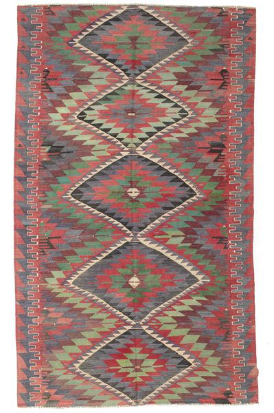 Kilim Semi Antique Turkish Rug 191X320 Authentic  Oriental Handwoven Dark Grey/Rust Red (Wool, Turkey)