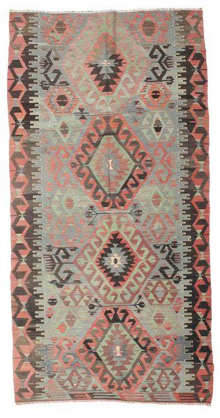 Kilim Semi Antique Turkish Rug 168X323 Authentic  Oriental Handwoven Light Grey/Dark Red (Wool, Turkey)