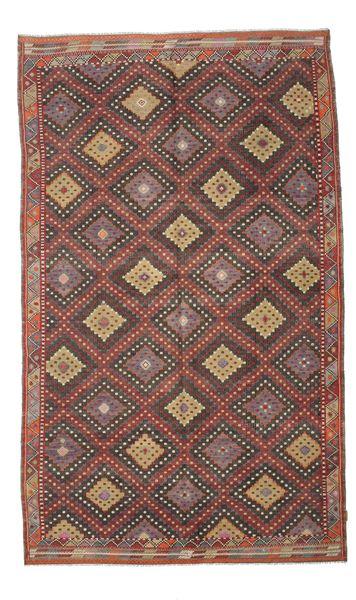 Kilim Semi Antique Turkish Rug 191X314 Authentic  Oriental Handwoven Dark Red/Dark Brown (Wool, Turkey)