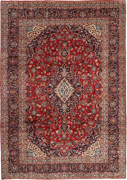 Keshan Rug 250X353 Authentic  Oriental Handknotted Dark Red/Dark Brown Large (Wool, Persia/Iran)