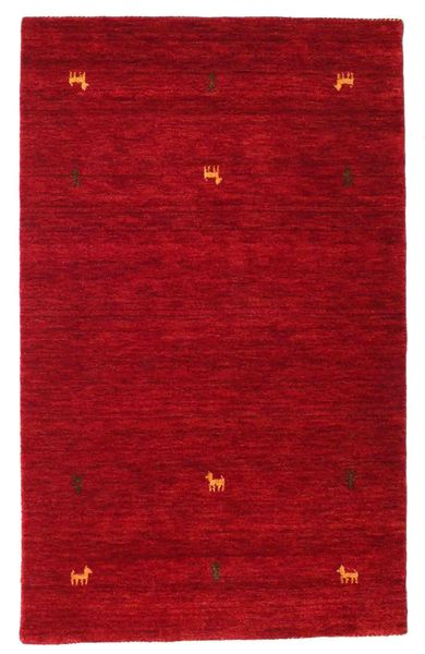 Gabbeh Loom Two Lines - Red Rug 100X160 Modern Crimson Red/Dark Red (Wool, India)