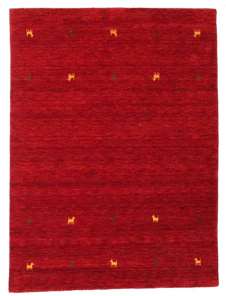 Gabbeh Loom Two Lines - Red Rug 140X200 Modern Crimson Red/Dark Red (Wool, India)