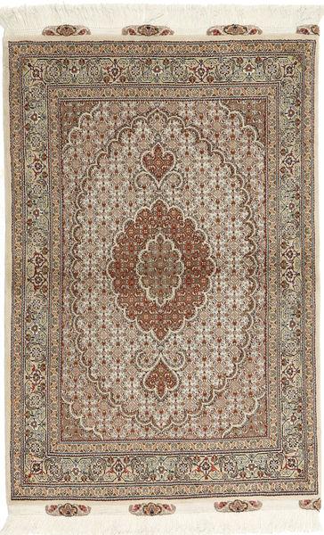 Tabriz 50 Raj Rug 100X150 Authentic  Oriental Handknotted Light Grey/Light Brown (Wool/Silk, Persia/Iran)