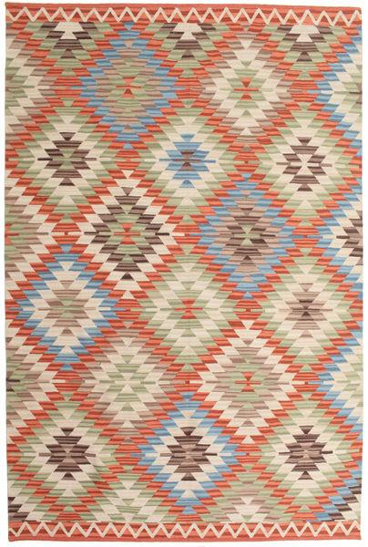 Kilim Oushak Rug 180X275 Authentic  Modern Handwoven Beige/Light Brown (Wool, India)