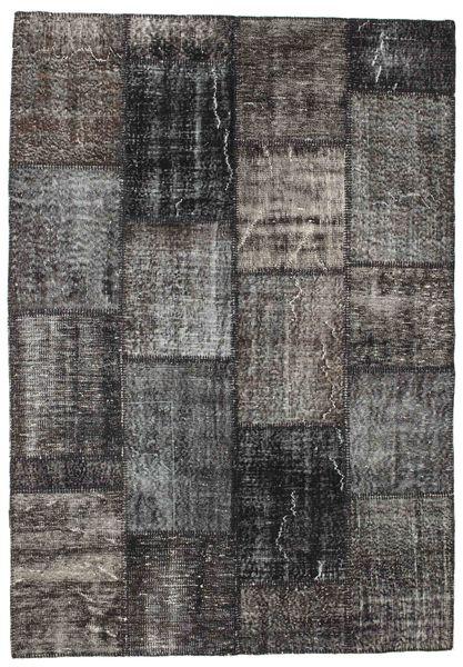 Patchwork Rug 162X233 Authentic  Modern Handknotted Dark Grey/Black (Wool, Turkey)