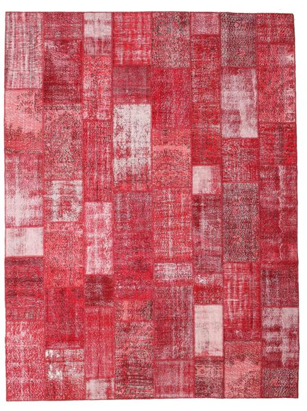 Patchwork Rug 303X402 Authentic  Modern Handknotted Crimson Red/Rust Red/Pink Large (Wool, Turkey)
