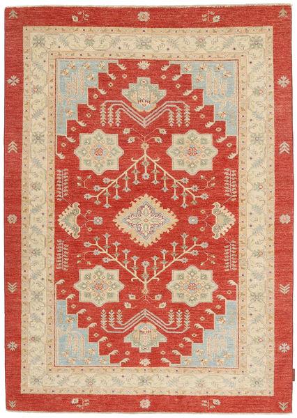 Ziegler Rug 151X203 Authentic  Oriental Handknotted Rust Red/Beige (Wool, Pakistan)