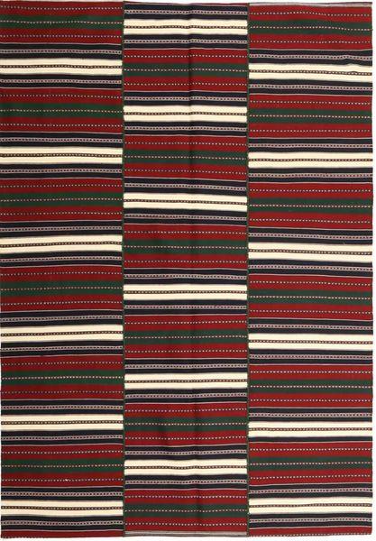 Kilim Modern Rug 170X244 Authentic  Modern Handwoven Dark Red/Black (Cotton, Persia/Iran)