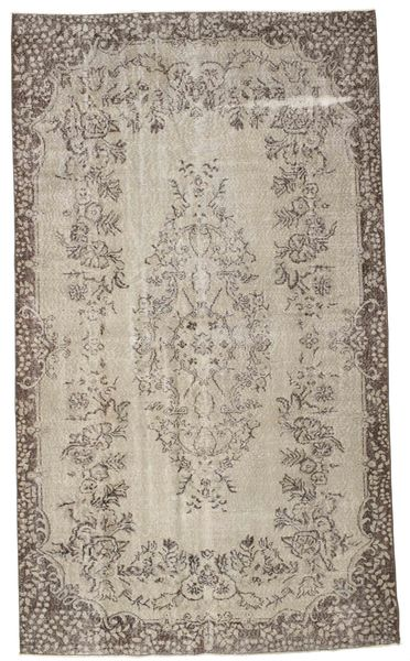 Colored Vintage Rug 170X292 Authentic  Modern Handknotted Light Grey/White/Creme (Wool, Turkey)