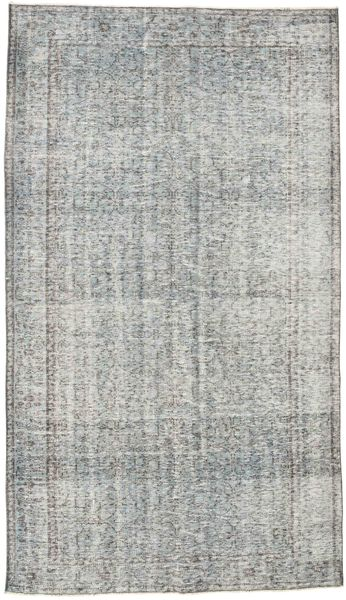 Colored Vintage Rug 169X294 Authentic  Modern Handknotted Light Grey/Turquoise Blue (Wool, Turkey)