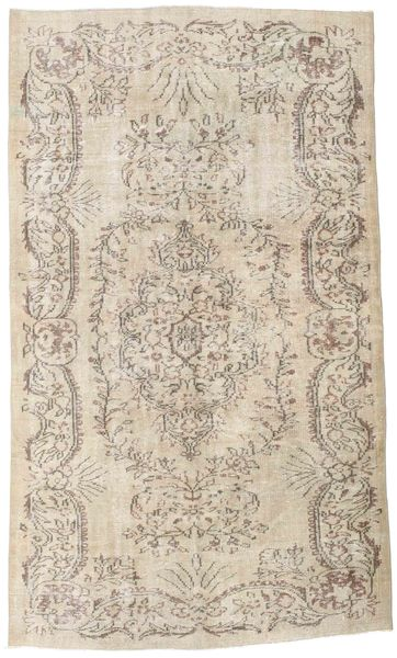 Colored Vintage Rug 160X282 Authentic  Modern Handknotted Light Grey/Beige (Wool, Turkey)
