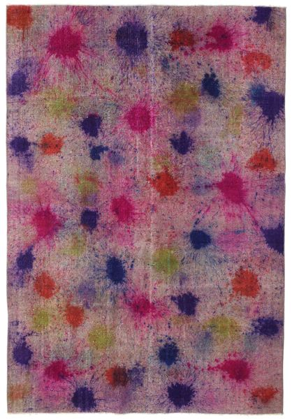 Colored Vintage Rug 196X290 Authentic  Modern Handknotted Pink/Purple (Wool, Turkey)