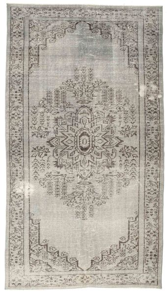 Colored Vintage Rug 152X275 Authentic  Modern Handknotted Light Grey (Wool, Turkey)
