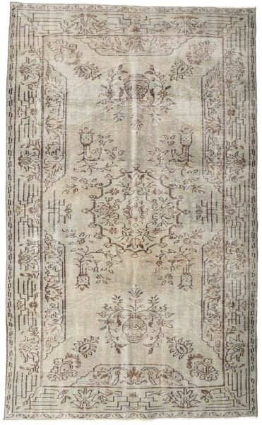 Colored Vintage Rug 164X274 Authentic  Modern Handknotted Light Grey (Wool, Turkey)