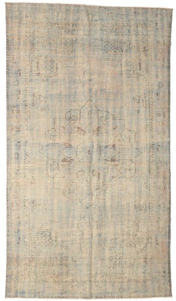 Colored Vintage Rug 178X314 Authentic  Modern Handknotted Light Grey/Beige (Wool, Turkey)
