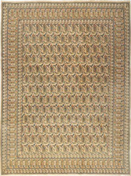 Keshan Rug 277X376 Authentic  Oriental Handknotted Light Brown/Dark Beige Large (Wool, Persia/Iran)