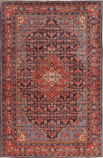 Mahal Rug 228X350 Authentic  Oriental Handknotted Dark Red/Dark Grey (Wool, Persia/Iran)