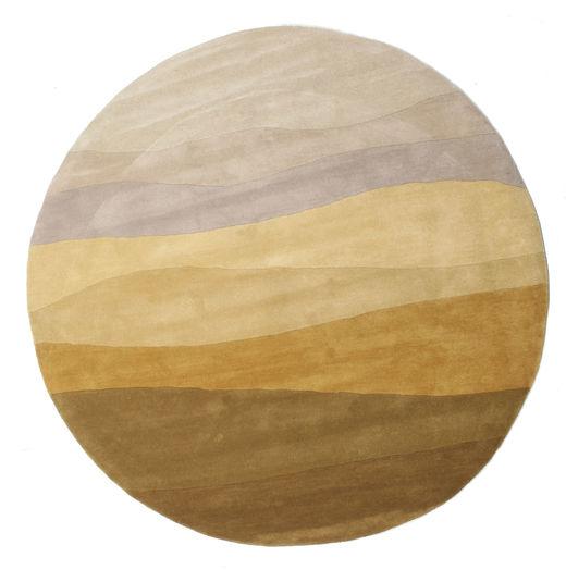 Feeling Handtufted - Brown Rug Ø 200 Modern Round Brown/Beige (Wool, India)